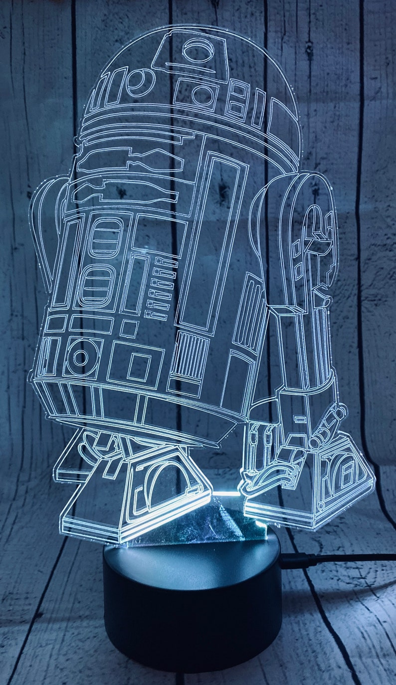Star Wars Lamp R2D2 LED Night Light Gift Acrylic Laser image 0