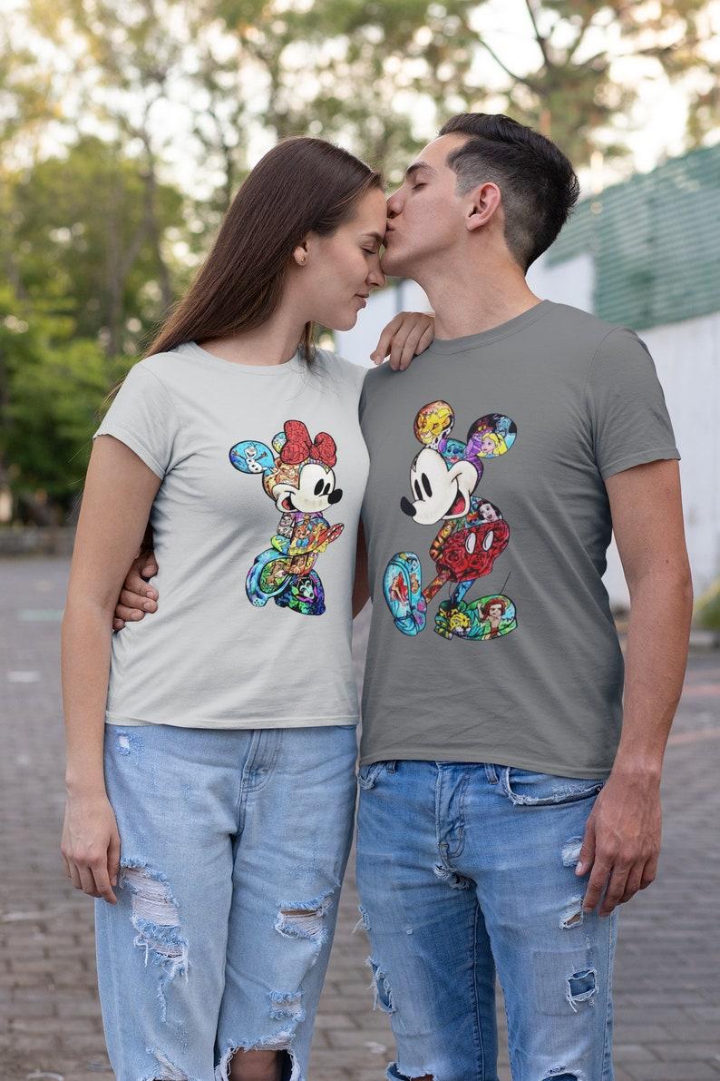 Disney Unisex Mickey Minnie Fan art shirt Women's image 0