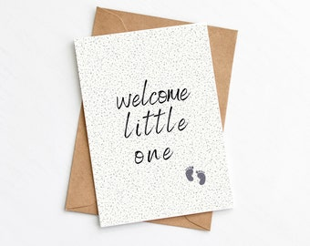 Adorable 'Welcome Baby' Card  Add the babies name