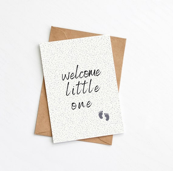 Welcome Little One, New Baby Card, New Parents, Baby Congratulations, Newborn, Send Direct Card, Plastic Free