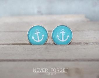 "Stud earrings ""anchored soul""-16 mm/pair"