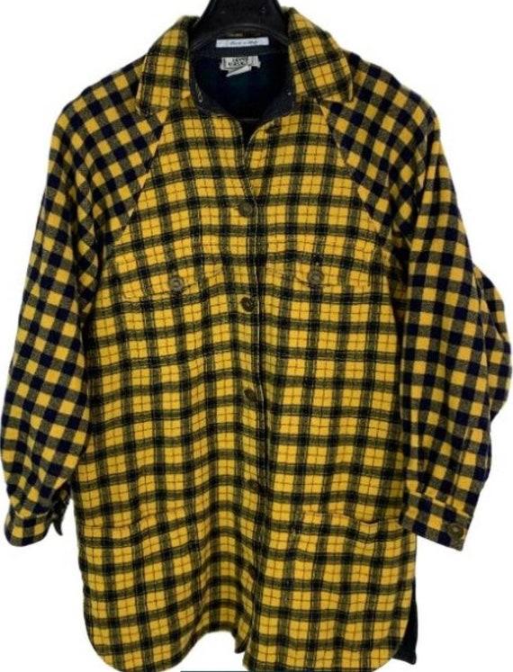 Vintage Gianni Versace checkered wool shirt oversi