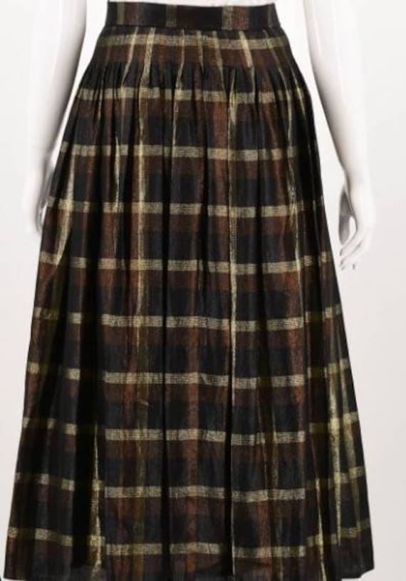 Vintage Chloe plaid Checkered skirt midi skirt M