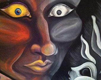 Pop Surreal Art: Queen Between Perspectives 20x20 inch Original Acrylic Painting