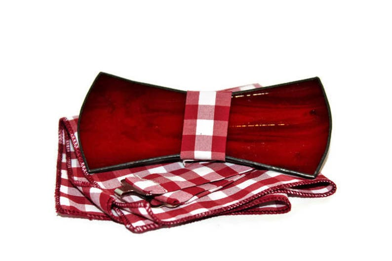 Exclusive bow tie. Men\u2019s bow tie with handkerchief and adjustable strap Customized glass bow ties