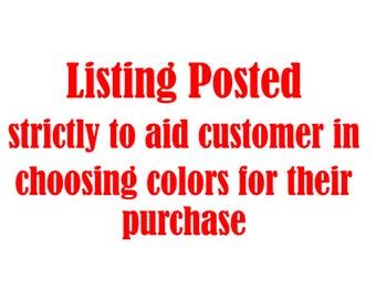 Listing of available  Siser Easyweed HTV,  (Heat Transfer Vinyl) Do Not Order