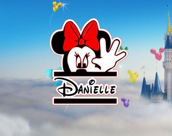Car Decal, Minnie Mouse Car Decal, Minnie Mouse Personalized Car Decal,