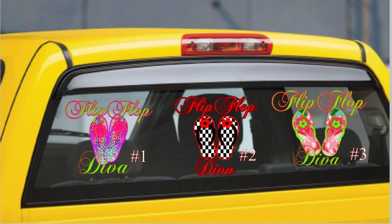 Flip Flop Decal Decal for Women Diva Decal Car Decal Flip Flop Diva Car Decal Flip Flop Diva Decal Flip Flop Diva Summer Decal