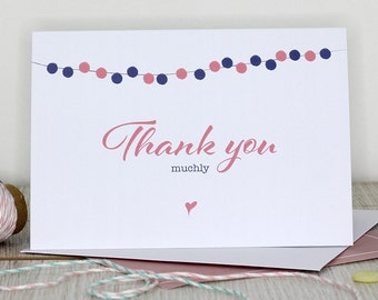Thank you card - Thank you muchly
