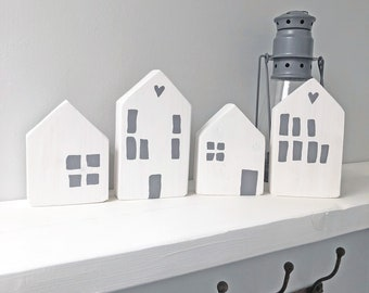 Home accessories | White wood house decorations | Scandi style decor.