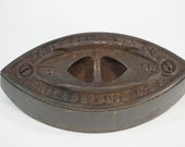 Vintage Iron, Cast Iron Base, Antique Sewing, Enterprise Mfg., Co., Philadelphia, PA, Country Decor, No 50, 4 lbs, Made in USA, Free Ship