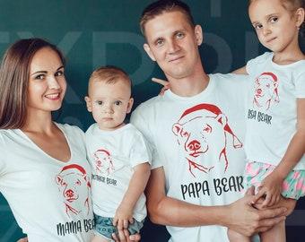 07a243bac0 Christmas Family Shirts Snowman Santa Cute PJ shirts Pajama