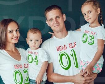 Christmas Family Shirts Head Elf Mama Elf custom name Xmas PJ shirts 66cacaa62