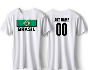 c075440e2 Brasil National Team Pride Customized name and Number World Cup Men