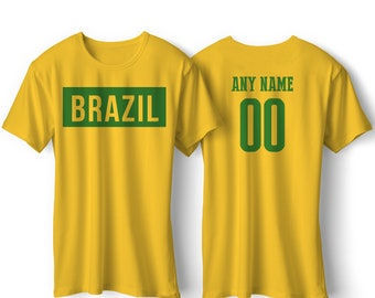 38e609d34 Brazil National Team Pride Customized name and Number World Cup Men