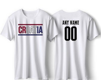 13ee181d5 Croatia National Team Pride Customized name and Number World Cup Men