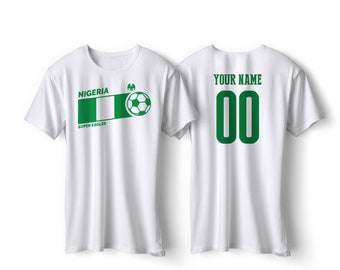 01f9f6087 Nigeria National Team Pride Customized name and Number World Cup Men