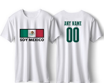 51249749b Mexico National Team Pride Customized name and Number World Cup Men, Youth,  Infant, Kids, T-shirt, Tee, Woman, Bodysuit MD23