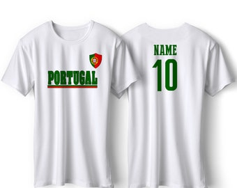 b5ebfedaf Portugal National Team T Shirt - Portugal Soccer Flag Shirt - Adult, Youth  & Infant - Football Fútbol Portugal Custom Gift
