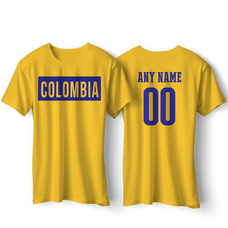 reputable site 94ef2 62cd0 Colombia National Team T Shirt - Colombia Soccer Colombia Flag Colombia  Flag Shirt All Sizes Football Fútbol Colombia Custom Gift