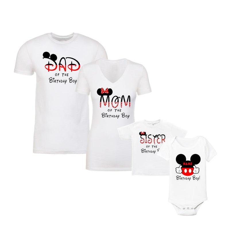 456d859d3 Birthday Disney Family Shirts Vacation T-Shirts Mickey | Etsy