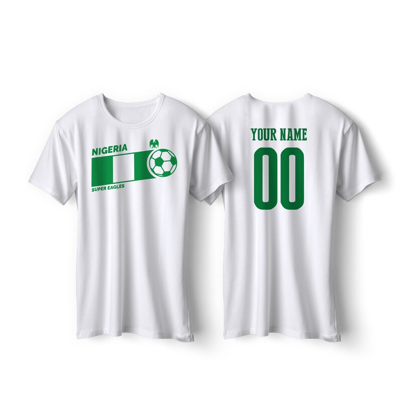 low priced e90b8 f63f1 Nigeria National Team T Shirt - Nigeria Soccer Flag Shirt All Sizes  Football Fútbol Nigeria Custom Gift
