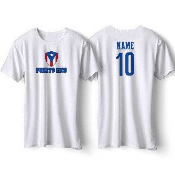 best service 256a8 e29ea Puerto Rico National Team T Shirt - Puerto Rico Soccer Flag Shirt - Adult,  Youth & Infant - Football Fútbol Puerto Rico Custom Gift