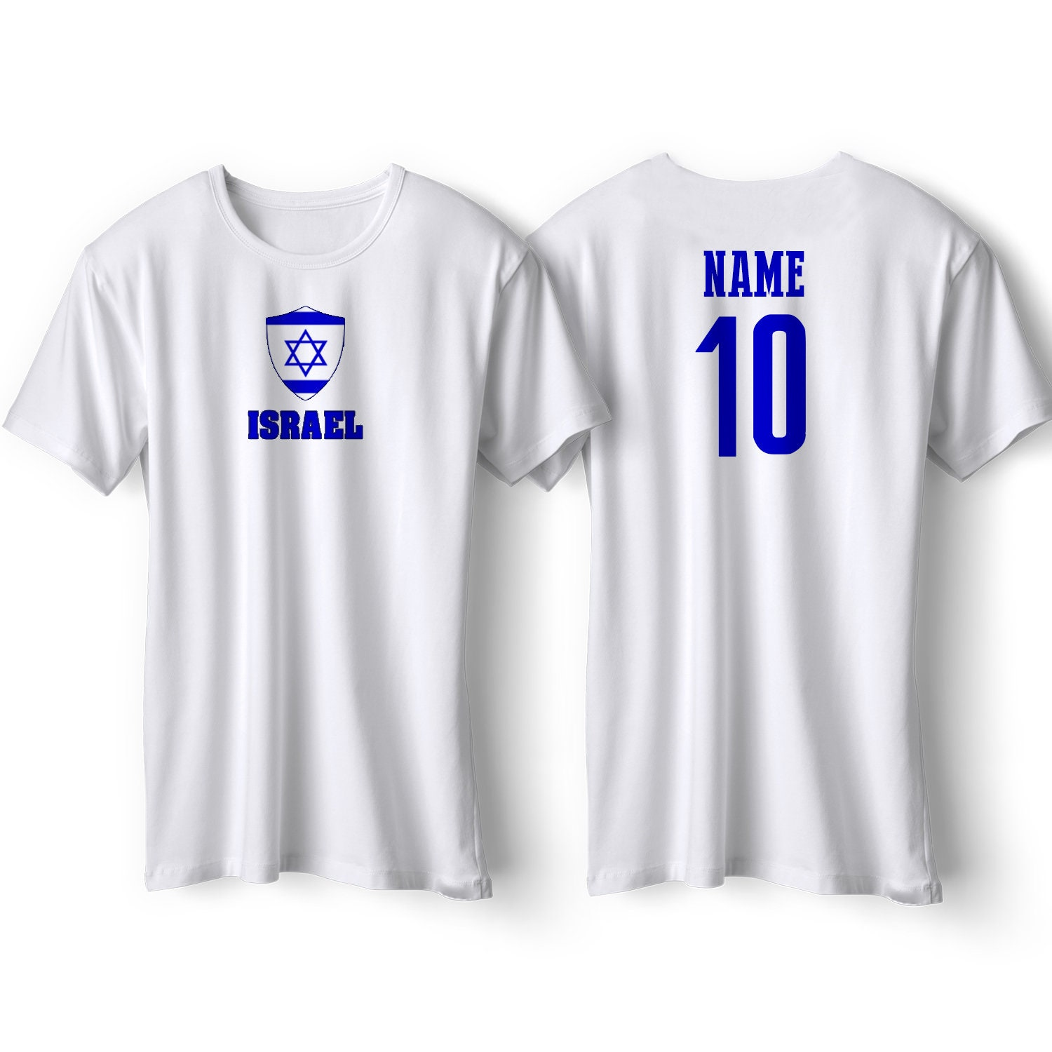 huge discount 30572 61b74 Israel National Team Pride Customized name and Number World Cup Men, Youth,  Infant, Kids, T-shirt, Tee, Woman, Bodysuit