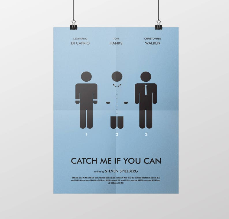 Movie Poster Catch Me If You Can Decorative Digital Art Etsy