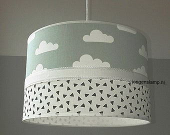 Baby Lampen Nl : Baby lamp clouds grey mint etsy