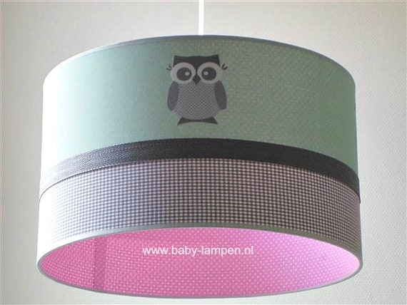 Baby Lampen Nl : Baby lamp mint noctuidae and pink dots etsy