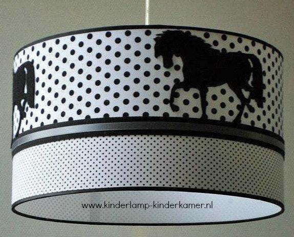 Lamp Kinderkamer Design : Horse lamp black white grey girls room etsy