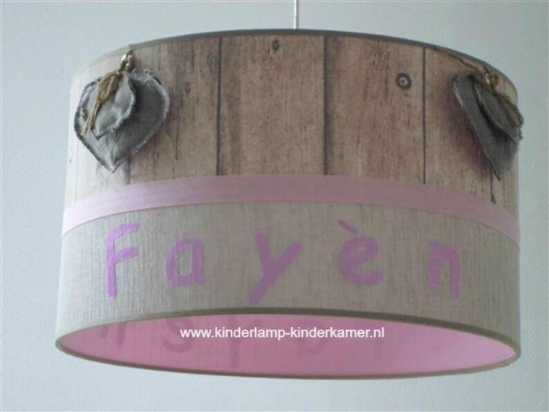 Kinderkamer Lamp Roze : Lamp kinderkamer stoffen harten fayen etsy