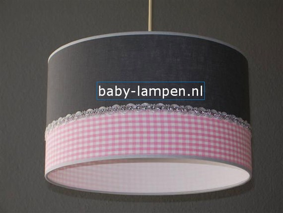 Baby Lampen Nl : Lamp baby room anthracite pink diamond etsy