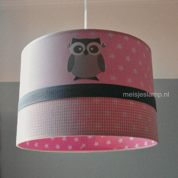 Roze Hanglamp Babykamer.Hanglamp Kinderkamer Roze Met Uiltjes