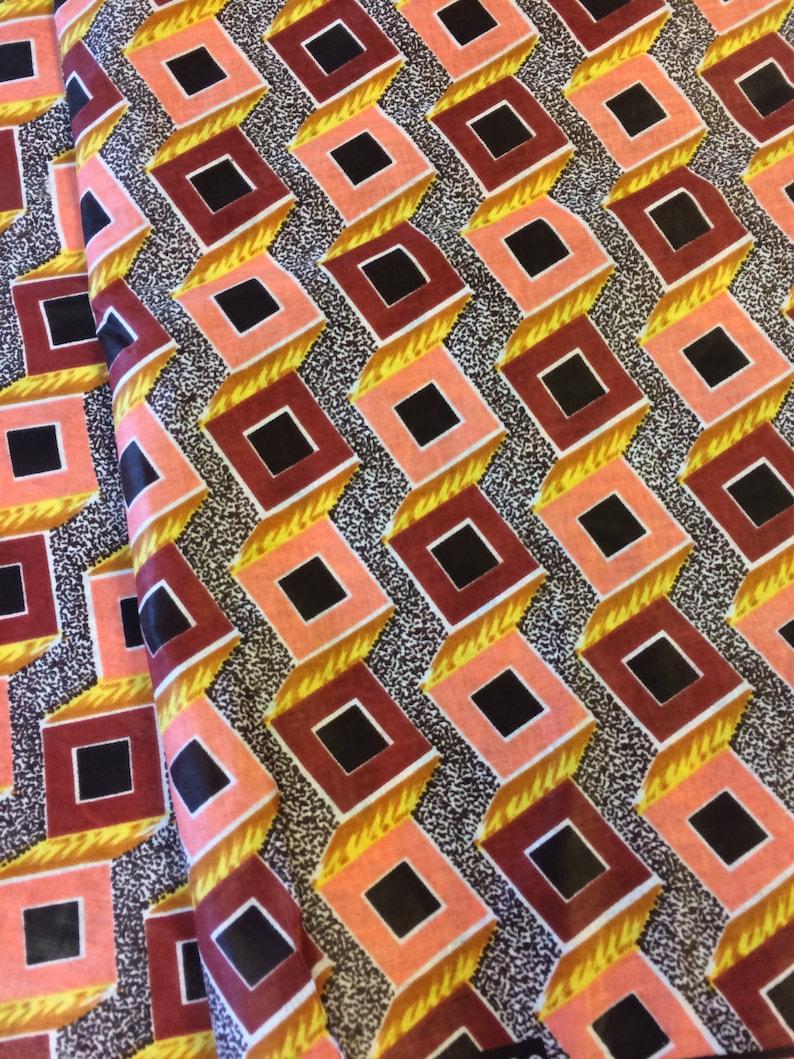 African Ankara Wax Print West African Fabric 4 Yards Fabric