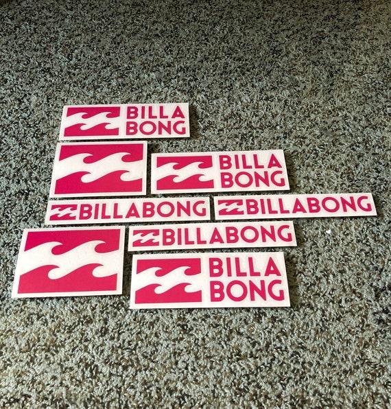 Plage de stickers autocollants planche à roulettes BILLABONG surf vagues vinyle autocollant Stickers livraison gratuite!