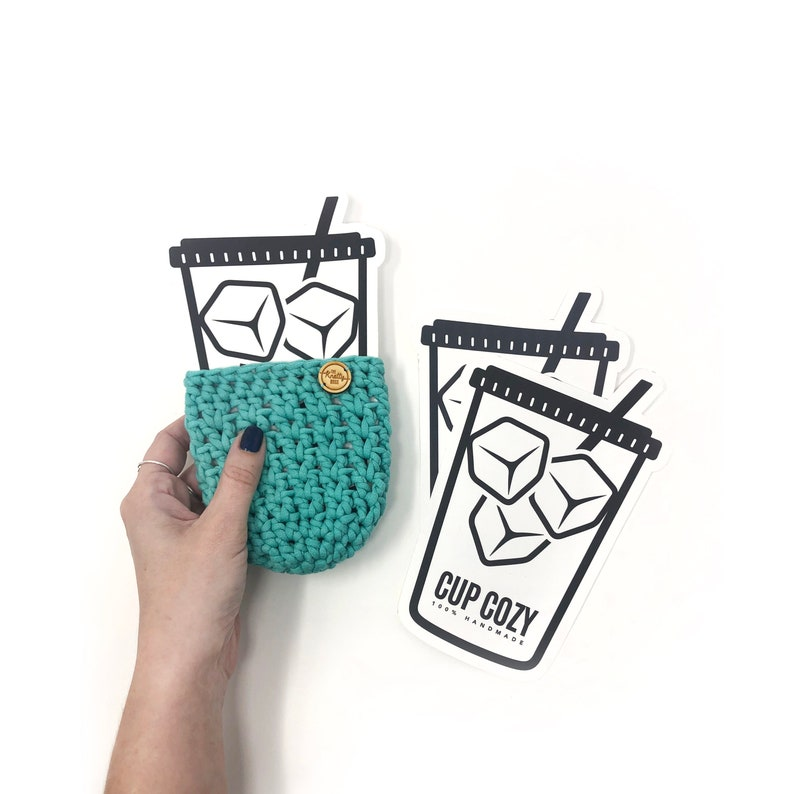 PRINTABLE Ice Cup Cozy Template  Downloadable PDF  Iced image 0