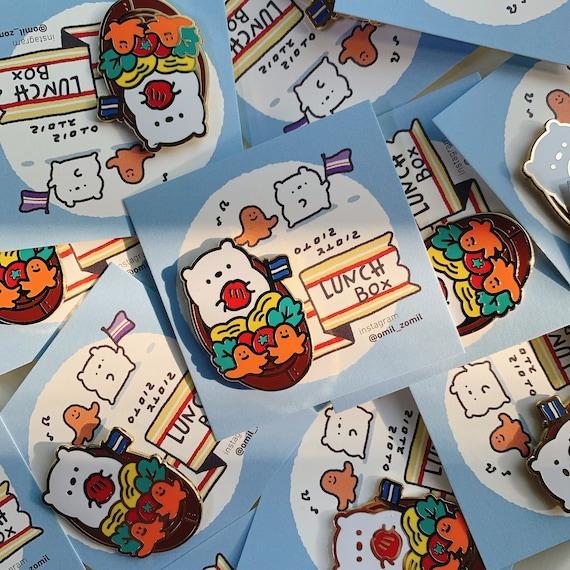 Lunch Box badge / food pin / Korean food / Kawaii Cerabear enamel pin