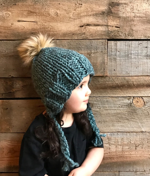 Kids Beanie Knitting Pattern Earflap Hat Pattern Kids Hat Etsy