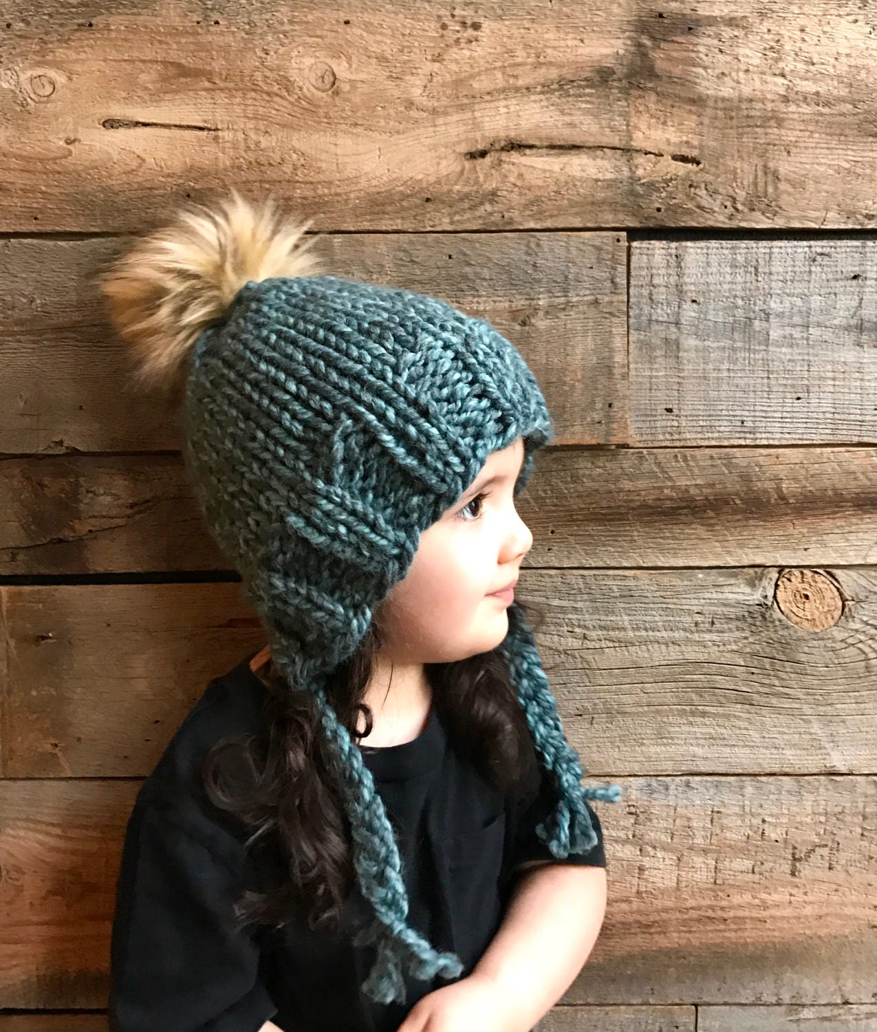 Hermosa Beanie Hat Knitting Pattern For Kids Molde - Manta de Tejer ...