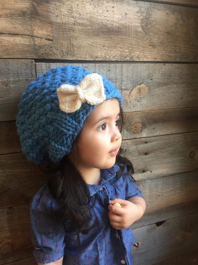 Slouchy Hat Pattern Kids Beanie Knitting Pattern Knit Hat Etsy