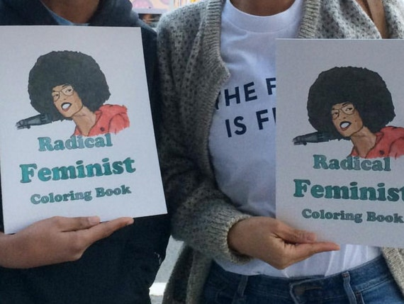 Radical Feminist Coloring Book Etsy