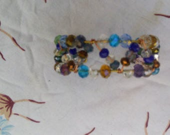 Brass Bracelet and crystals