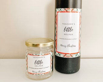 Wine Label & Candle Set
