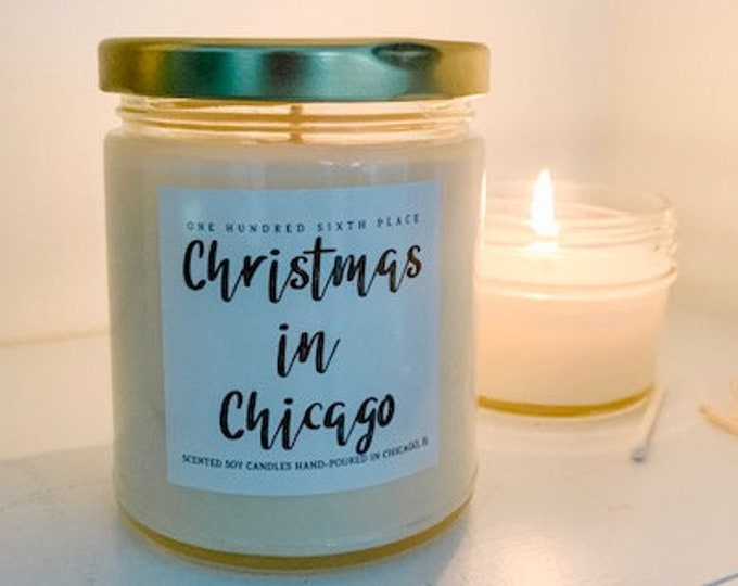 Christmas in Chicago (Eggnog)  9oz Soy Christmas Candle