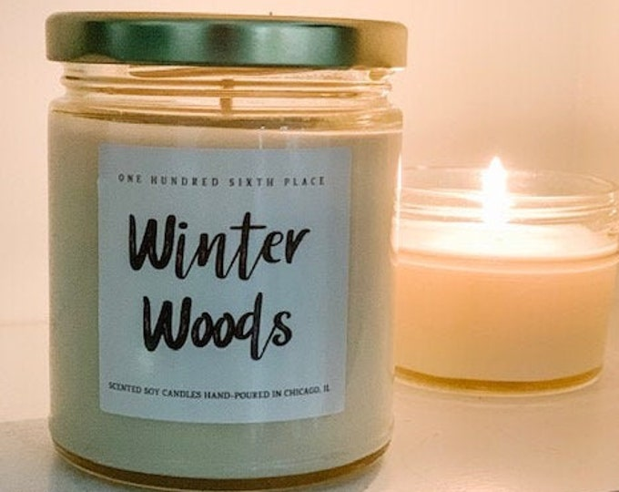 Winter Woods 9oz Soy Christmas Candle