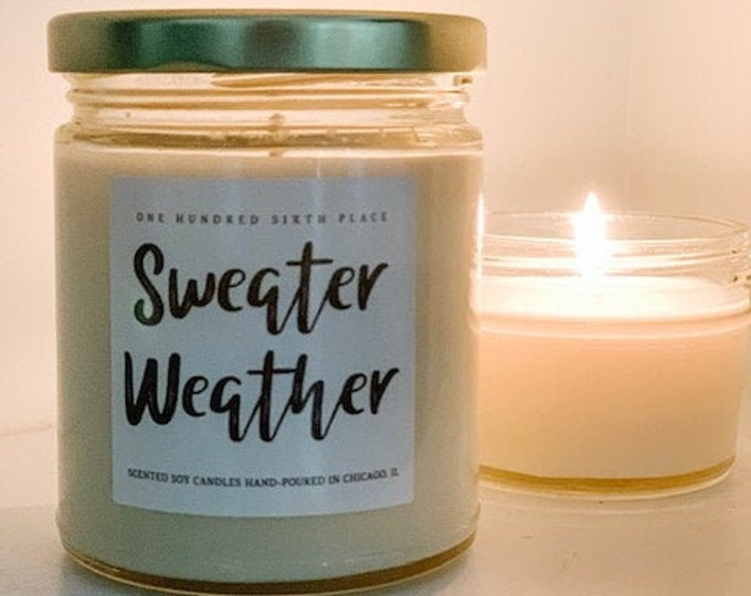 Sweater Weather 9oz Soy Christmas Candle