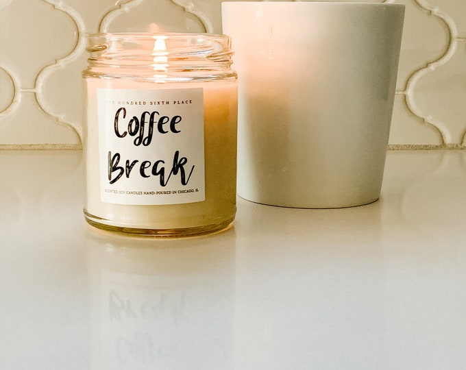 Coffee Break 9oz Soy Candle
