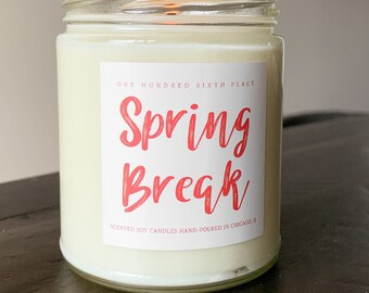 PRE ORDER BATCH Spring Break 9oz Soy Candle